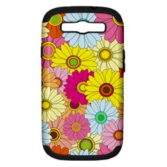 Floral Background Samsung Galaxy S Iii Hardshell Case (pc+silicone)