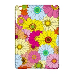 Floral Background Apple Ipad Mini Hardshell Case (compatible With Smart Cover)
