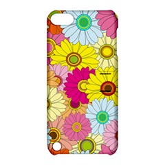 Floral Background Apple Ipod Touch 5 Hardshell Case With Stand