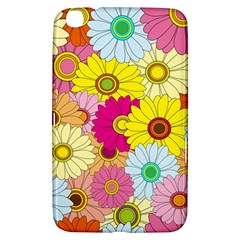 Floral Background Samsung Galaxy Tab 3 (8 ) T3100 Hardshell Case