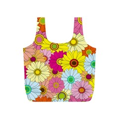 Floral Background Full Print Recycle Bags (s)