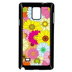 Floral Background Samsung Galaxy Note 4 Case (black)