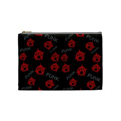 Anarchy Pattern Cosmetic Bag (medium)  by Valentinaart