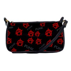 Anarchy Pattern Shoulder Clutch Bags by Valentinaart
