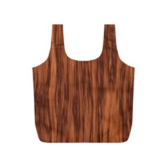 Texture Tileable Seamless Wood Full Print Recycle Bags (s)