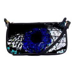 Blue Eye Shoulder Clutch Bags by Valentinaart