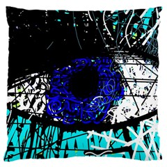 Blue Eye Large Flano Cushion Case (two Sides) by Valentinaart