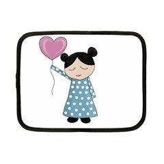 Valentines Day Girl Netbook Case (small)  by Valentinaart