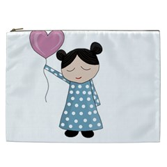 Valentines Day Girl Cosmetic Bag (xxl)  by Valentinaart