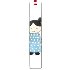Valentines Day Girl Large Book Marks by Valentinaart