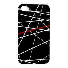 Lines Apple Iphone 4/4s Hardshell Case by Valentinaart