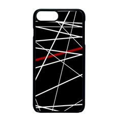 Lines Apple iPhone 7 Plus Seamless Case (Black) by Valentinaart