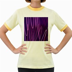 The Background Design Women s Fitted Ringer T Shirts