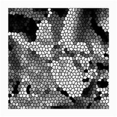 Mosaic Stones Glass Pattern Medium Glasses Cloth by Nexatart