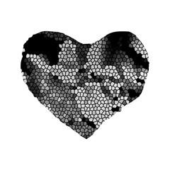 Mosaic Stones Glass Pattern Standard 16  Premium Heart Shape Cushions