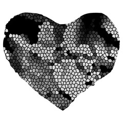 Mosaic Stones Glass Pattern Large 19  Premium Heart Shape Cushions