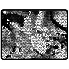 Mosaic Stones Glass Pattern Double Sided Fleece Blanket (large)