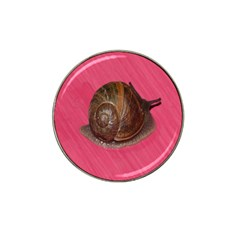 Snail Pink Background Hat Clip Ball Marker