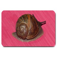 Snail Pink Background Large Doormat