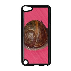 Snail Pink Background Apple Ipod Touch 5 Case (black)
