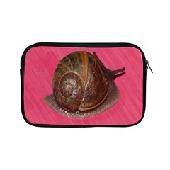 Snail Pink Background Apple Ipad Mini Zipper Cases by Nexatart