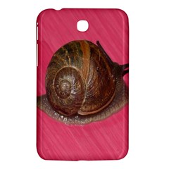 Snail Pink Background Samsung Galaxy Tab 3 (7 ) P3200 Hardshell Case