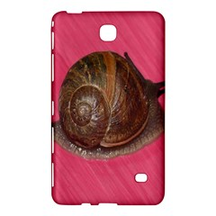 Snail Pink Background Samsung Galaxy Tab 4 (7 ) Hardshell Case  by Nexatart