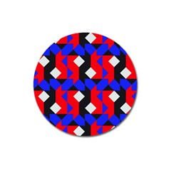 Pattern Abstract Artwork Magnet 3  (Round) by Nexatart