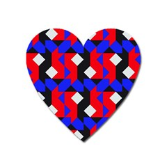 Pattern Abstract Artwork Heart Magnet