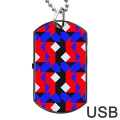 Pattern Abstract Artwork Dog Tag Usb Flash (one Side)