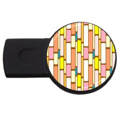 Retro Blocks Usb Flash Drive Round (4 Gb) by Nexatart