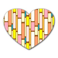 Retro Blocks Heart Mousepads by Nexatart