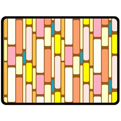 Retro Blocks Double Sided Fleece Blanket (large)  by Nexatart