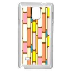 Retro Blocks Samsung Galaxy Note 4 Case (white) by Nexatart