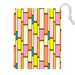 Retro Blocks Drawstring Pouches (xxl) by Nexatart