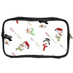 Snowman Christmas Pattern Toiletries Bags