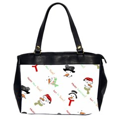 Snowman Christmas Pattern Office Handbags (2 Sides)