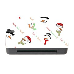 Snowman Christmas Pattern Memory Card Reader With Cf