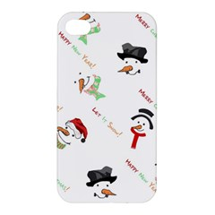 Snowman Christmas Pattern Apple Iphone 4/4s Hardshell Case