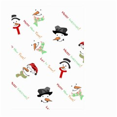 Snowman Christmas Pattern Large Garden Flag (two Sides)