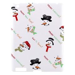 Snowman Christmas Pattern Apple Ipad 3/4 Hardshell Case