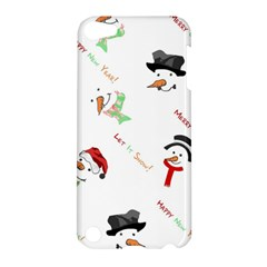 Snowman Christmas Pattern Apple Ipod Touch 5 Hardshell Case