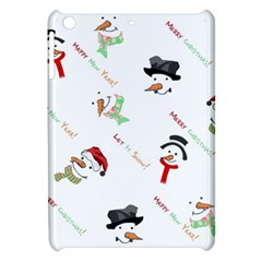 Snowman Christmas Pattern Apple Ipad Mini Hardshell Case by Nexatart