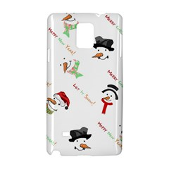 Snowman Christmas Pattern Samsung Galaxy Note 4 Hardshell Case