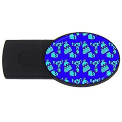 Winter Usb Flash Drive Oval (2 Gb)