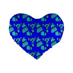 Winter Standard 16  Premium Heart Shape Cushions