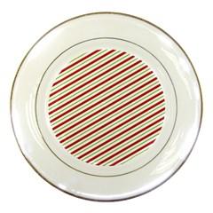 Stripes Porcelain Plates