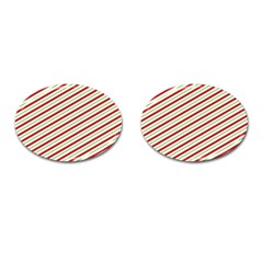 Stripes Cufflinks (oval) by Nexatart