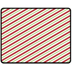 Stripes Double Sided Fleece Blanket (medium)  by Nexatart