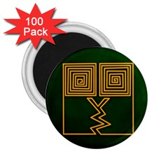 One Stroke Owl 2 25  Magnets (100 Pack)